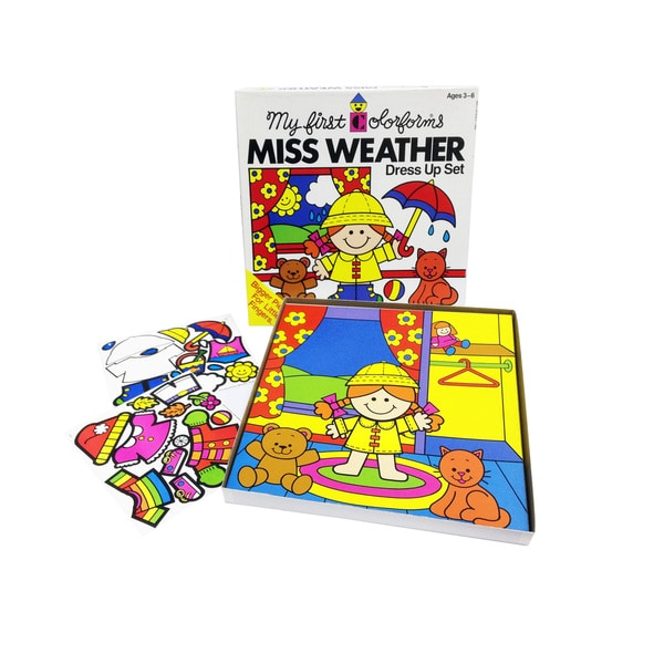 Colorforms Create a Story 'Miss Weather' Restickable Playset