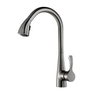 Y-Decor 'Manhattan' Single Handle Brushed Nickel Finish Pull-down Kitchen Faucet