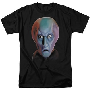 Star Trek/Balok Head Short Sleeve Adult T-Shirt 18/1 in Black