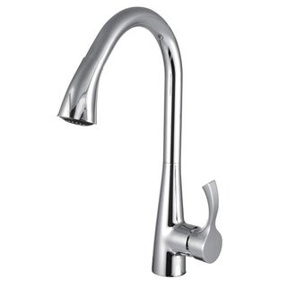 Y-Decor Manhattan Brass Single-handle Pull-down Kitchen Faucet with Polished Chrome Finish