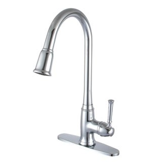 Madison Chrome Brass Pull-out Kitchen Faucet