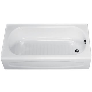 American Standard 0255.112.020 5' White Salem Right Hand Drain Recessed Bathtub