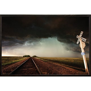 'Storm Tracks' 24-inch x 36-inch Print with Walnut Architect Picture Frame