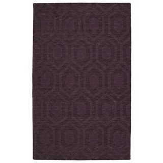 Trends Purple Loft Wool Rug (9'6 x 13'6)