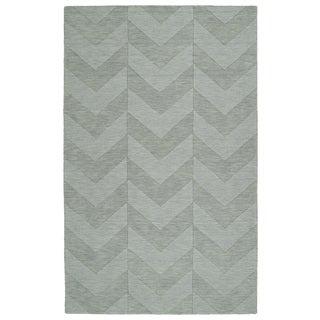 Trends Spa Chevron Wool Rug (9'6 x 13'6)