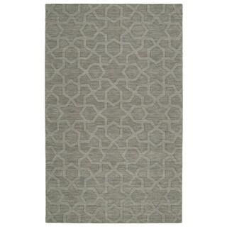 Trends Grey Geo Wool Rug (9'6 x 13'6)