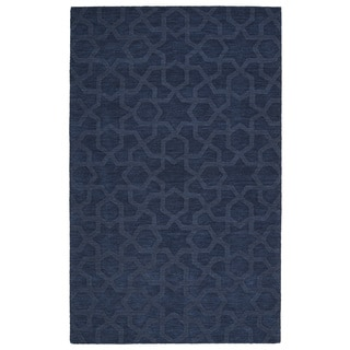 Trends Navy Geo Wool Rug (9'6 x 13'6)