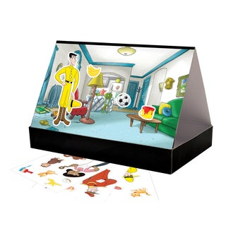 Colorforms 'Create a Story' Curious George Restickable Playset