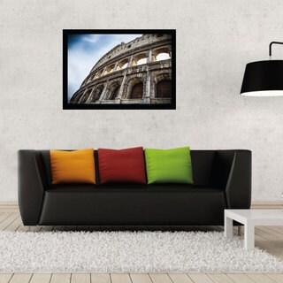 Colosseum Print Black Plastic/Paper Contemporary Poster Frame