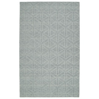 Trends Light Blue Prism Wool Rug (9'6 x 13'6)