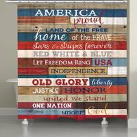 Laural Home Americana Shower Curtain