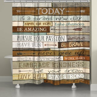 Laural Home Brand New Day Shower Curtain