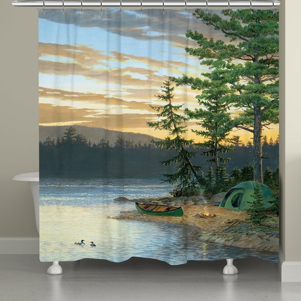 Shop Laural Home Lake Sunset Shower Curtain