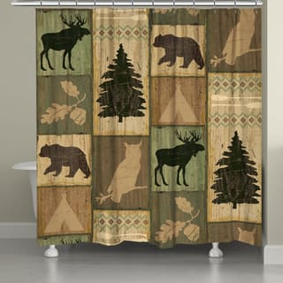 Laural Home Lodge Animals Shower Curtain