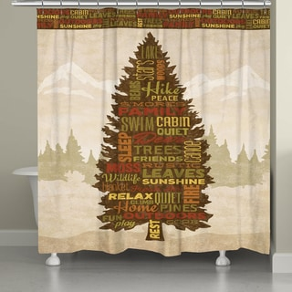 Laural Home Outdoor Words Shower Curtain