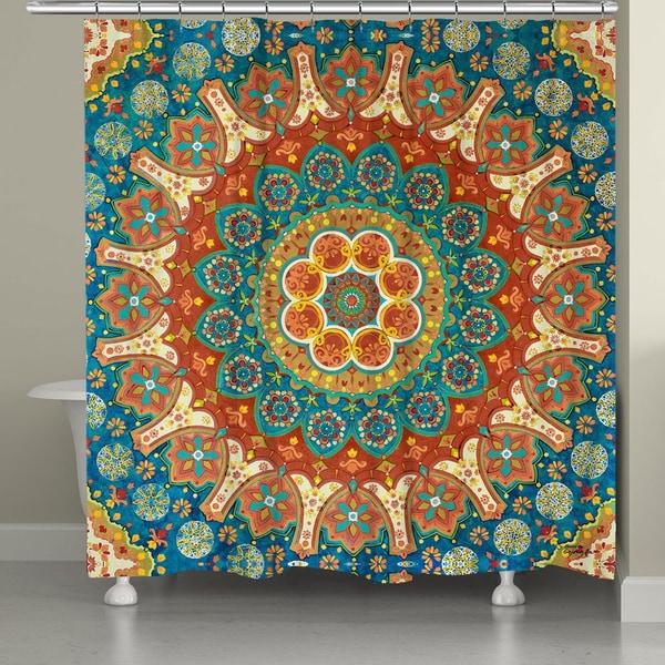 Shop Laural Home Mandala Pattern Shower Curtain