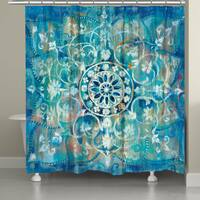 Laural Home Moody Blue Mandala Shower Curtain