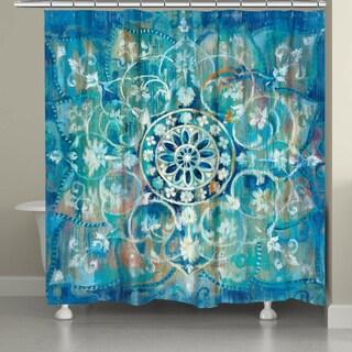 Laural Home Moody Blue Mandala Shower Curtain