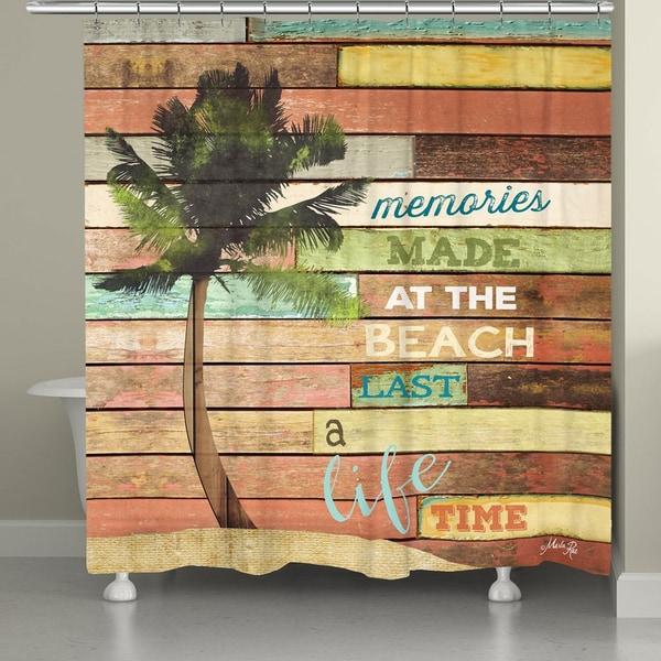 Laural Home Beach Vacation Memories Shower Curtain