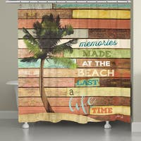 Laural Home Beach Vacation Memories Shower Curtain