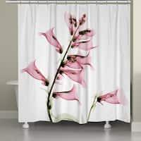 Laural Home X-Ray Foxglove Shower Curtain