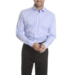 Vince Camuto Men's Modern Fit Blue/Purple Cotton Pin-stripe Dress Shirt