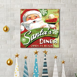 Jennifer Brinley 'Santa's Diner' Holiday Canvas Print Wall Art