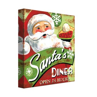 Portfolio Canvas Decor Jennifer Brinley 'Santa's Diner' Holiday Canvas Print Wall Art