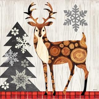 Portfolio Canvas Decor Jennifer Brinley 'Norwegian Wood Deer' Holiday Canvas Print Wall Art