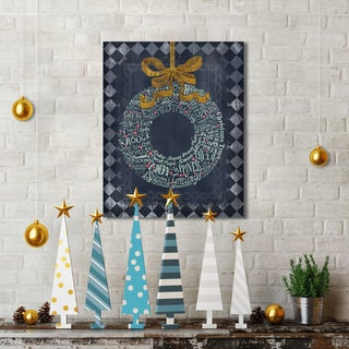 Studio Voltaire 'Christmas Wreath' Portfolio Holiday Canvas Print Wall Art