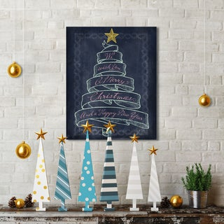 Studio Voltaire 'Christmas Banner Tree' Holiday Canvas Print Wall Art (16 x 20)