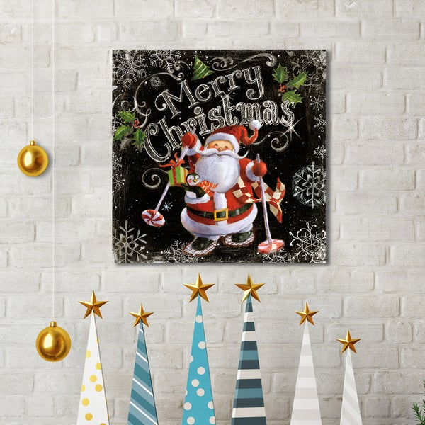 Portfolio Canvas Decor Geoff Allen \'Chalk Santa Merry Christmas ...