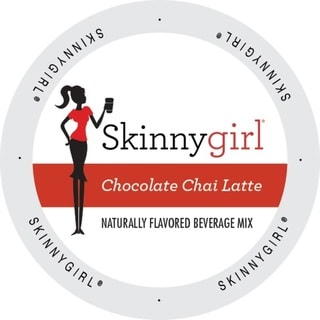 Skinnygirl Indulgent Beverages Chocolate Chai Latte Single Serve Cup Portion Pack for Keurig K-Cup Brewers