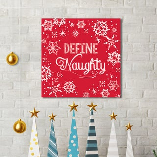 Portfolio Canvas Decor Sally Ball Sharp 'Chalk Holiday Define Naughty' Holiday Canvas Print Wall Art