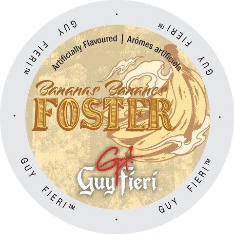 Guy Fieri Coffee Bananas Foster, Single-serve Cup Portion Pack for Keurig K-Cup Brewers