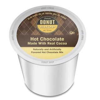 Authentic Donut Shop Blend Hot Chocolate, Single Serve Cup Portion Pack for Keurig K-Cup Brewers