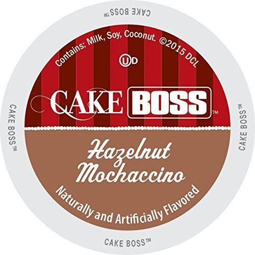 Cake Boss Indulgent Beverages Hazelnut Mochaccino Single-serve Portion Pack for Keurig K-Cup Brewers