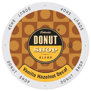 Authentic Donut Shop Blend Vanilla Hazelnut Decaf Single-serve Portion Pack for Keurig K-Cup Brewers