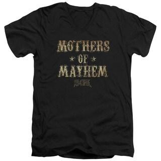 Sons Of Anarchy/Mothers Of Mayhem Short Sleeve Adult T-Shirt V-Neck 30/1 in Black