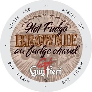 Guy Fieri Coffee Hot Fudge Brownie Single Serve Cup Portion Pack for Keurig K-Cup Brewers
