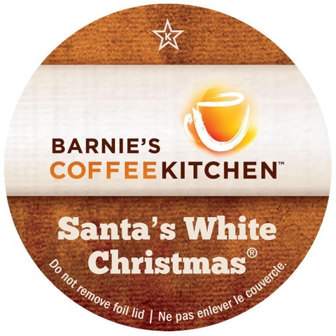 Barnie's Coffee Kitchen Santa's White Christmas Single-serve Cup Portion Pack for Keurig K-Cup Brewers