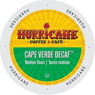 Hurricane Coffee And Tea Cape Verde Decaf, RainforestAlliance, Single Serve Cup Portion Pack for Keurig K-Cup Brewers