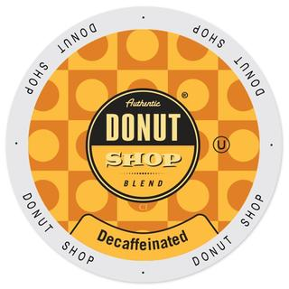 Authentic Donut Shop Blend Decaffeinated, Single-serve Cup Portion Pack for Keurig K-Cup Brewers