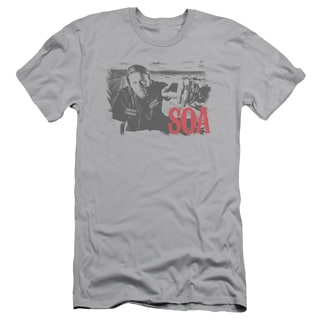 Sons Of Anarchy/Jax Block Short Sleeve Adult T-Shirt 30/1 in Silver