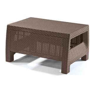 Keter Corfu Brown Modern All-weather Outdoor Patio/ Garden/ Backyard Brown Coffee Table Furniture
