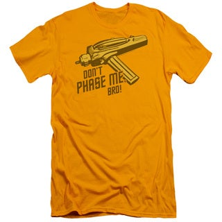 Star Trek/Don't Phase Me Bro Short Sleeve Adult T-Shirt 30/1 in Gold