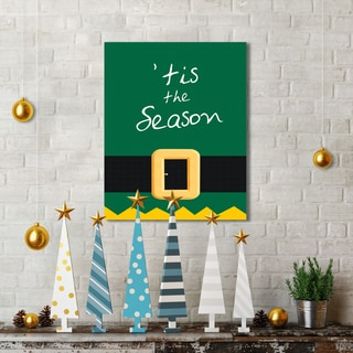 Portfolio Canvas Decor IHD Studio 'Tis the Season' 16-inch x 20-inch Holiday Canvas Print Wall Art
