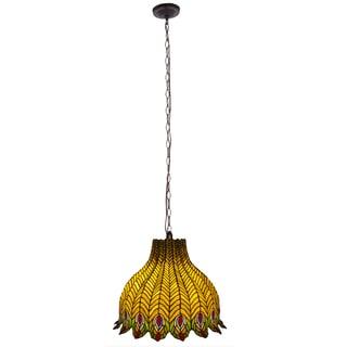 shabby chic pendant lighting. \u0027Pride Of The Peacock\u0027 Multicolored Stained Glass Pendant Lamp Shabby Chic Lighting