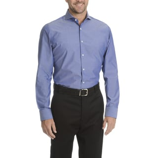 Vince Camuto Men's Blue/Grey Cotton Modern Fit Dress Shirt