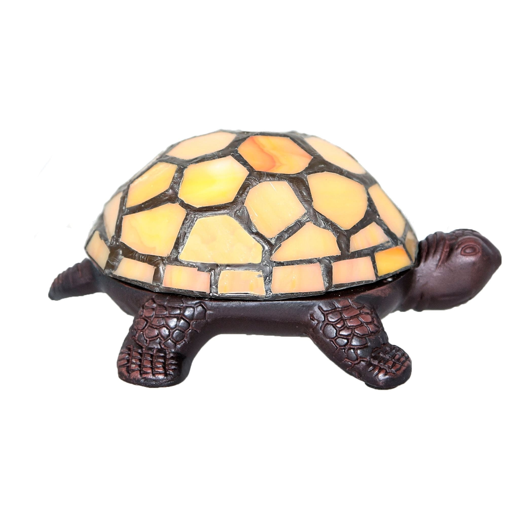 """River Of Goods Cordless Stained Glass 2.5"""" High Turtle Ac..."""
